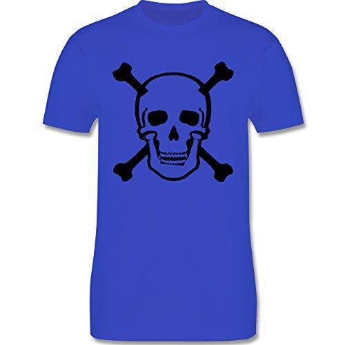 Piraten & Totenkopf - Totenkopf - Herren Premium T-Shirt Royalblau