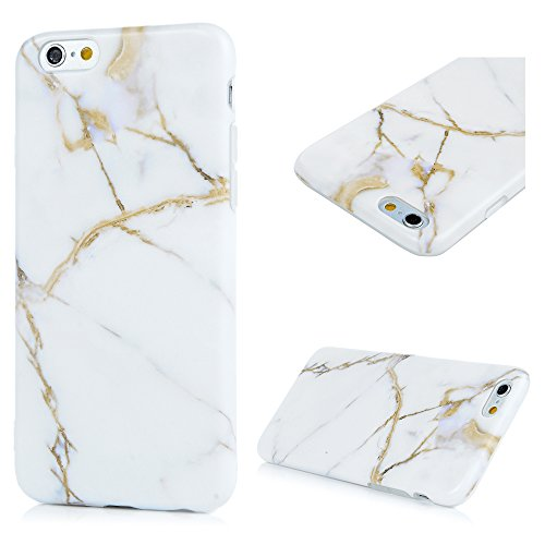 iPhone 6 6s Marmor Handyhülle, KASOS Marble Hülle Soft Case mit IMD Technologie,Weiß