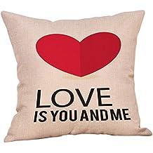 ¡Gran promoción!☆Rovinci☆Feliz Día de San Valentín Funda de Almohada Sofá
