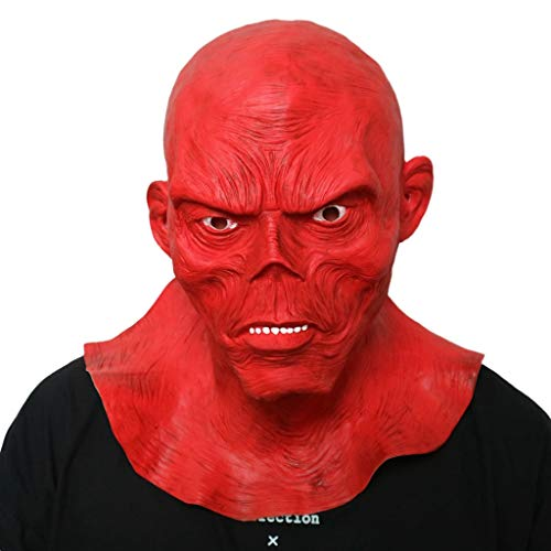 YKQ WS Halloween Horror Grimasse Scary Maske Teufel, Prom Party Karneval Requisiten Dekoration (Farbe : Red Devil) (Basteln Halloween-dekorationen Scary)