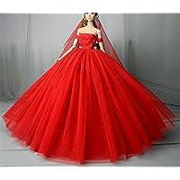 """Stillshine SG523 Fantasía Hecho a Mano Vestido de Novia el 11,5 """" para Barbie Doll/Vestido de muñeca/Accesorios de Las muñecas (7)"""