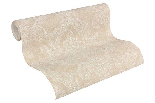 Beige Farbpalette (A.S. Création Vliestapete Elegance Tapete neo barock 10,05 m x 0,53 m beige creme Made in Germany 305181 30518-1)