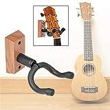 Lorenlli Universal Holz Gitarrenhalter Wandhalterung Displayständer Verstellbare Violinenhalter Musikinstrument Schwamm Kurze Haken