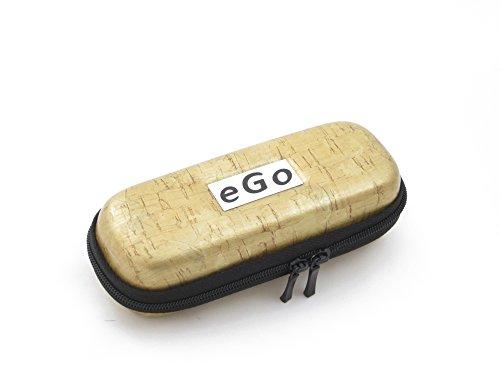 Zipper Etui Kork beige small für e-Zigaretten eGo-T/eGo-C/eGo-W / 510/510-T von Hannets®