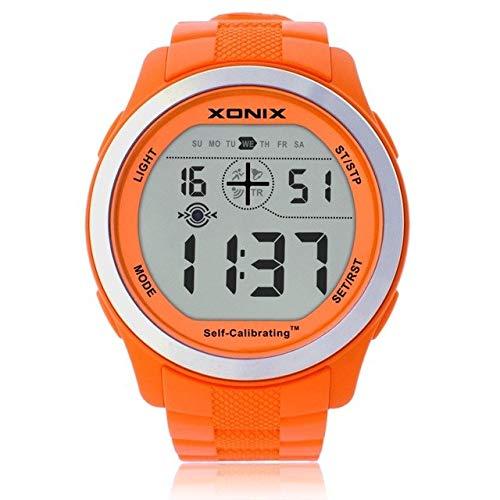 GVT 007: XONIX Präzise Zeituhr, Multifunktions-Netzwerkschule, halbintelligentes LED-Uhrwerk, wasserdicht, für Herren