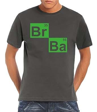 Touchlines Herren T-Shirt BR BA Formel Heisenberg, Darkgrey, S, B130313TS