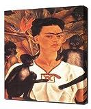 Frida Kahlo - Self Portrait With Monkeys - Art Leinwandbild - Kunstdrucke - Gemälde Wandbilder