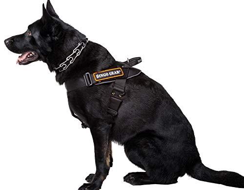 DINGO GEAR Multifunktionsgeschirr für Hunde in der Arbeit, Guard Dog Training, K9 und Ipo, Cobra System Handarbeit, Schwarz S03197, XL -