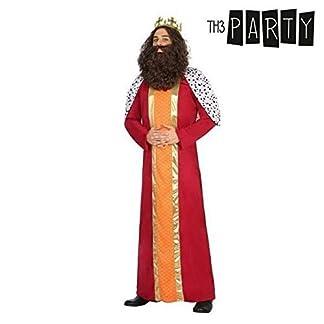 Atosa-30762 Atosa-30762-Disfraz Rey Mago Hombre Adulto-Talla Navidad, Color Rojo, M-L (30762)