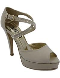 Amazon.it  Scarpe Camoscio Tacco Alto - 708520031   Scarpe  Scarpe e ... d099555db99
