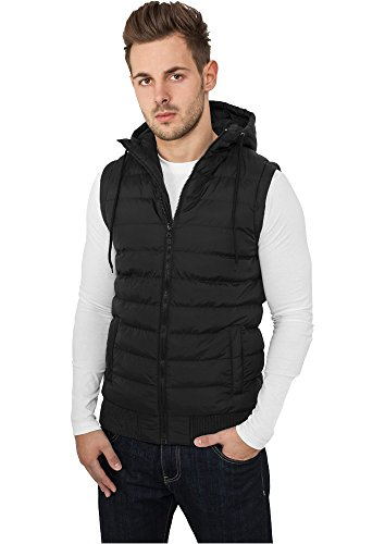 TB510 Small Bubble Hooded Vest Daunen Weste Black/Black