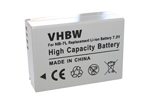 vhbw Li-Ion Akku 700mAh (7.2V) für Kamera, Video, Camcorder Canon Powershot G10, G11, G12, SX30is wie Canon NB-7L.