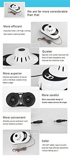 Anself CopRose - Robot para Limpieza de Ventanas Automático con Mando a Distancia, Limpiador para Cristal Vidrio Eléctrico, Color Blanco