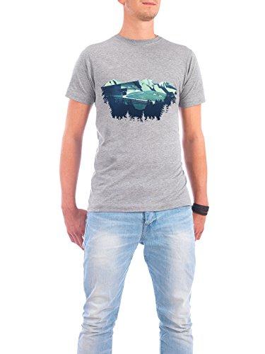 """Design T-Shirt Männer Continental Cotton """"Alpine Hut"""" - stylisches Shirt Natur Reise Reise / Länder von Romina Lutz Grau"""