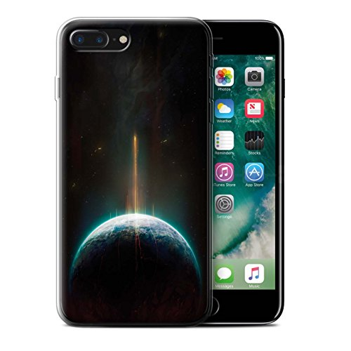 Offiziell Chris Cold Hülle / Gel TPU Case für Apple iPhone 7 Plus / Raumfahrzeug Muster / Galaktische Welt Kollektion Phönix/Raumzeit