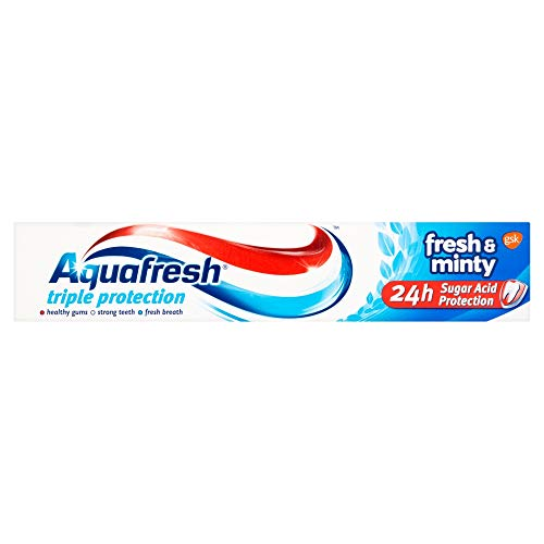 4845090350a9 Aquafresh Triple Protection Toothpaste, 75 ml, Fresh and Minty