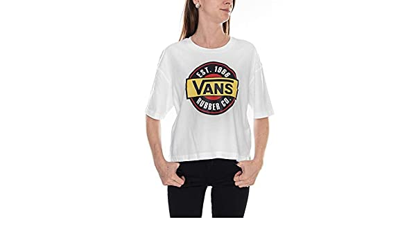 Vans Hauts & T shirts Femme T shirt Chromo Blanc < La