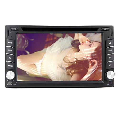 Autoradio 6,2 Pouces 2 DIN avec GPS Aucun Fonction dans Dash autoradio Ipod TV BT Lecteur DVD de Voiture Bluetooth