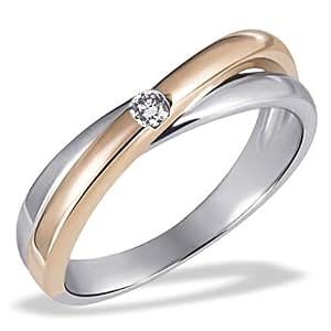 Goldmaid - Pa R4188RG54 - Bague Femme - Or Bicolore 585/1000 (14 ct) 3.8 Gr - Diamant 0.05 ct