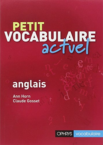 Petit Vocabulaire Actuel Anglais