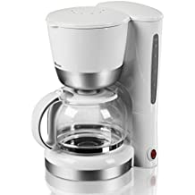 Coffee Maker By Swan - Filter Coffee Made Easy -  Non Drip - Keep Warm Hot Plate - Large 1.25 Litre Coffee Pot - White