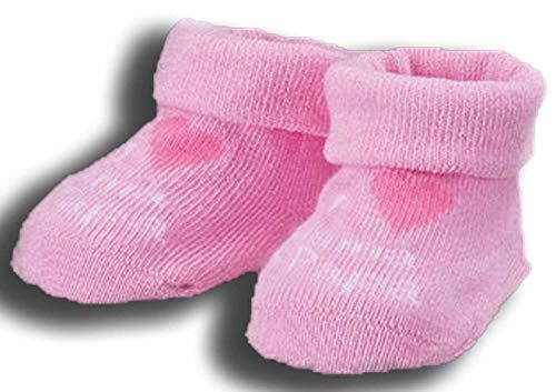 Baby Mädchen Jungen Erstlings Söckchen Strümpfe Sneaker Socken für 0-5 Monate in Geschenkbox Rosa Mama Papa