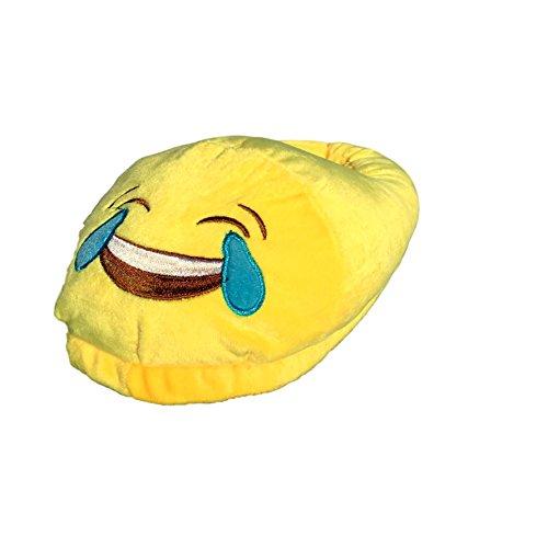 EKNA Emoji Hausschuhe, Gr. 35-43 Unisex, Motivauswahl Kacki / Kackhaufen; Smiley Verliebt u. Kuss Lustig