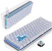 Ajazz AK33 Mechanical keyboard 82 Keys USB Wired Gaming Keyboard with Backligh for Tablet Desktop Computer