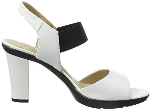 Geox Damen D Jadalis A Knöchelriemchen Weiß (WHITEC1000)
