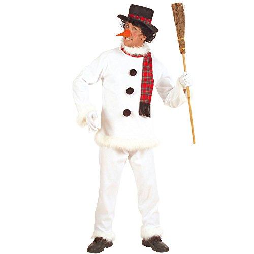 Widmann 5717C Erwachsenenkostüm Schneemann, Mantel, Hose, Hut, Schal und (Schneemann Amazon Kostüm)