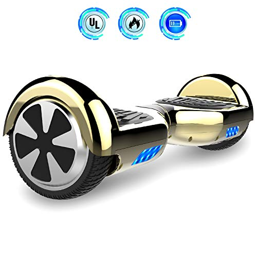 Hoverboards 6.5' Balance Board Patinete Eléctrico Scooter Talla LED 350W*2 (Yellow, 6.5)