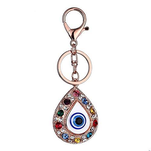 Xcsysq Keychain Neues Türkisches Blaues Wasser-Tropfen-Auge Keychain Augen-Diamant-Schlüssel