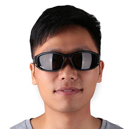 Giantree Motorradbrille Reitbrille, Spiegelglas Motorrad Fahren Fahren Augenschutz Sonnenbrille Tactical Goggles