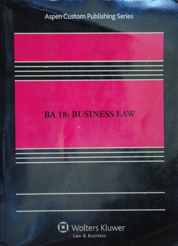 BA 18: Business Law