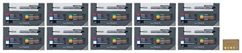 Pentel Pencil Lead Holder and Lead Set, Multi 8 Set (PH802ST), 10-pack, Sticky Notes Value Set