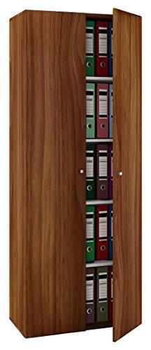 Nussbaum Schrank (VCM Schrank Universal Kleiderschrank Mehrzweckschrank Dielenschrank Flur Möbel kern-nussbaum 178 x 70 x 40 cm