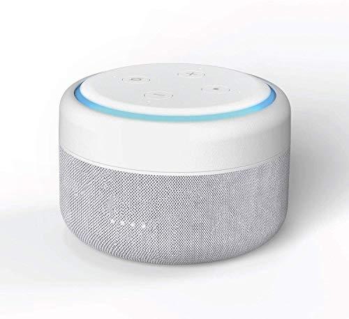iBox Amazon Echo Dot Akku 3 Generation - Powerbank und Kabellos Batteriestation für Alexa Echo Dot 3. Generation - Sandstein (Echo Dot Nicht enthalten)