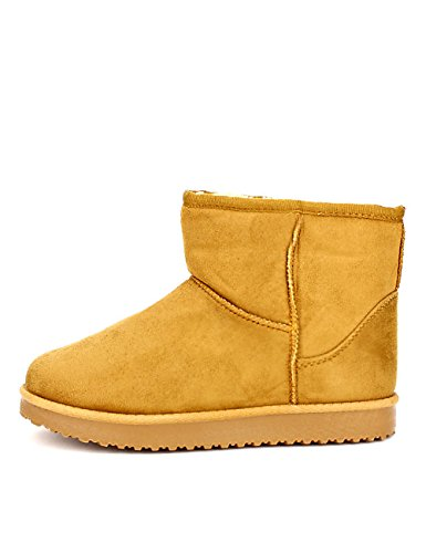 Cendriyon Boots Camel Fourrée UGATA Mode Chaussures Femme