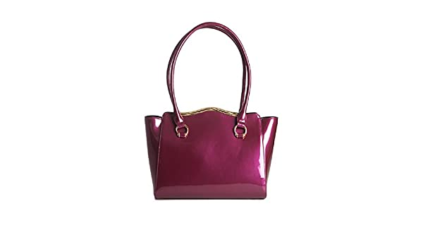 cb70d6d621d7 Buy Marina Violet Red Tote by Bravo Handbags Online at Low Prices in India  - Amazon.in