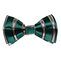 DBD7A04A Green Stripes Working Groom Microfiber Pre-Tied Bowtie Creative Fabric Gift Giving By Dan Smith