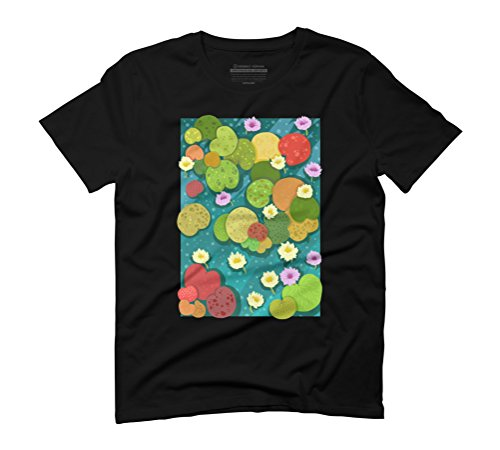 Waterlily Men's Graphic T-Shirt - Design By Humans Black