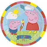 8 platos pequeños de cartón Peppa Pig