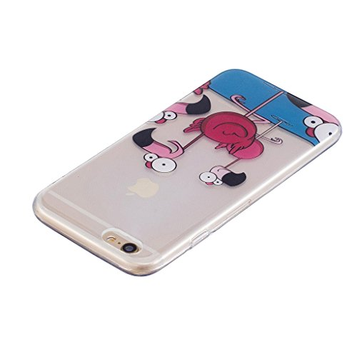 "Coque pour Apple iPhone 6S Plus / 6 Plus , IJIA Transparent Pizza TPU Doux Silicone Bumper Case Cover Shell Housse Etui pour Apple iPhone 6S Plus / 6 Plus (5.5"") WL7"