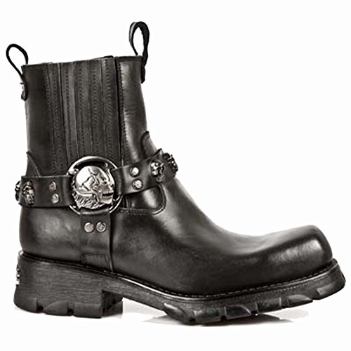New Rock 7621-s1, Santiags Homme Noir (Black)