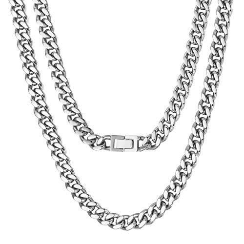 WISTIC Halskette Herren Edelstahl in 18k Silber Kette für Männer Jungen Kettenarmband inkl. Schmuckschachtel Tolles Geschenk