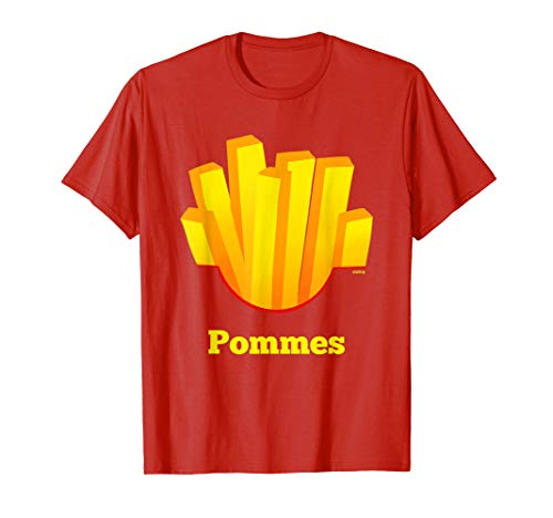 Kostüm Pommes Kinder - Pommes T-Shirt Pommes Kostüm Verkleidung Fritten