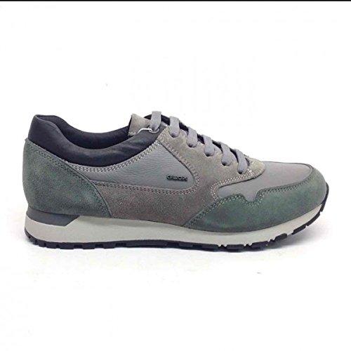 Uomo scarpa sportiva, color grigio , marca geox, modelo uomo scarpa sportiva geox u emildon b grigio