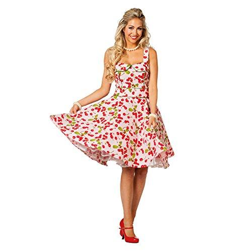 PARTY DISCOUNT NEU Damen-Kostüm Kleid Rock'n'Roll Cherry, Gr. 42 -
