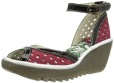 Fly London Women's Perf Fashion Sandals P500477012 Ruby/Black/OffWhitehite 8 UK, 41 EU
