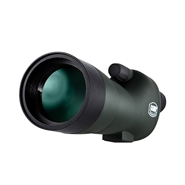 BNISE HD Straight Spotting Scope - Fully Multi-Coated Optics - Waterproof and Fogproof - 20-60x60 Zoom Monocular Telescope - With Handheld Tripod - with Camera and Phone Photography Adapters